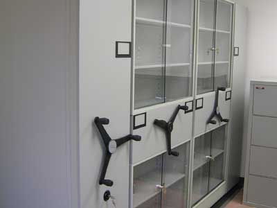 Custom Glass Front Storage Cabinets for Easy Display